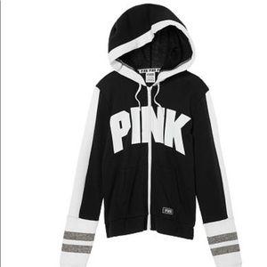 🏃🏼♀️V.S, PINK black and white hoodie